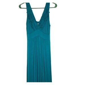 Gilli teal maxi dress with beautiful detail
